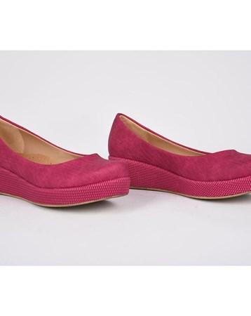 Teceras Fuşya Ortopedik Poli Yüksek Taban Günlük Kadın Ayakkabı 811