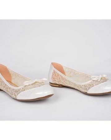 Sinan Collection Sinan Kadın Beyaz Abiye Gelinlik Ortopedik Günlük Babet Ayakkabı 861