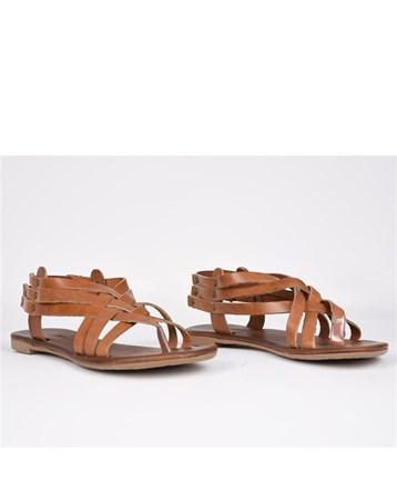 Eldorado Hakiki Deri Sandalet Parmak Arası Ortopedik Günlük 756