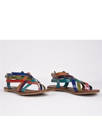 Eldorado Hakiki Deri Sandalet Parmak Arası Ortopedik Günlük Şık 759