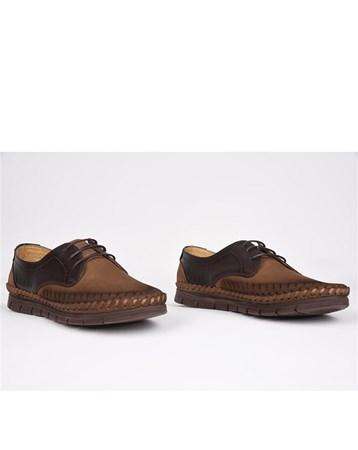 Eldorado Nubuk Deri Ortopedik Rahat Şık Kahverengi Ayakkabı 764