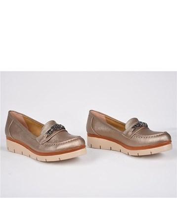 Teceras Kapucino Metal Tokalı Ortopedik Günlük Kadın Ayakkabı 824