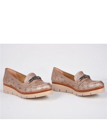 Teceras Vizon Yazılı Metal Tokalı Ortopedik Günlük Kadın Ayakkabı 825