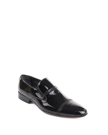 Gön Deri Erkek Ayakkabı 32429 Siyah Rugan GÖN