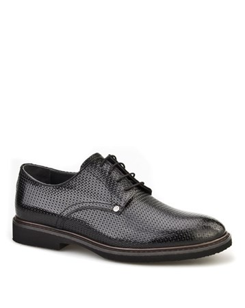 Lazerli Günlük Erkek Ayakkabı Siyah Rugan 7Yea07ay020f05 Cabani