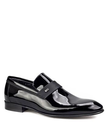 Kemerli Klasik Erkek Ayakkabı Siyah Rugan 7Yea03ay018428 Cabani