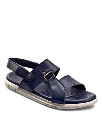 Tokalı Günlük Erkek Sandalet Lacivert Deri 7Yeg04sa002l01 Cabani