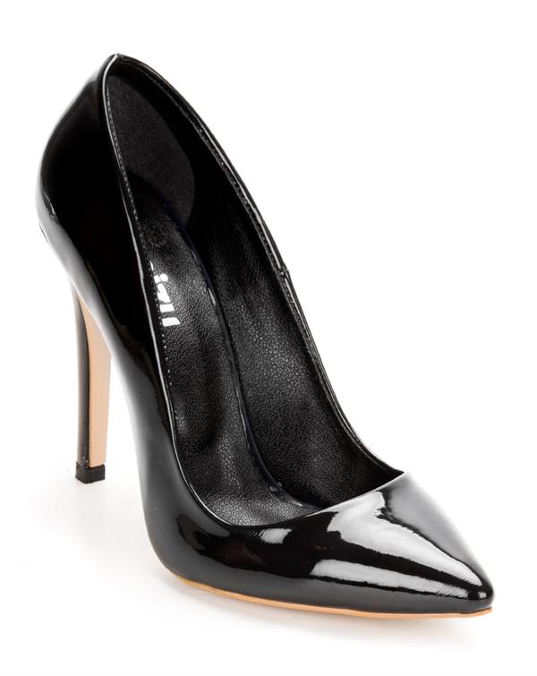 Rugan Siyah Bayan Stiletto 2553